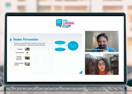 Tercer taller previo a la 1ra Feria Laboral CUP: Redes personales, más que compartir tu currículum