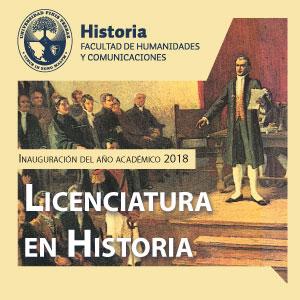 Inauguración del año académico 2018 Licenciatura en Historia