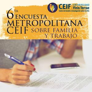 Centro de Estudio e Investigación sobre Familia de la U. Finis Terrae realizará VI Encuesta Metropolitana