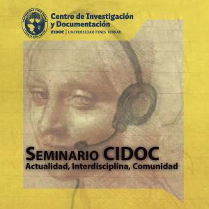 Seminario CIDOC. Actualidad, Interdisciplina, Comunidad: