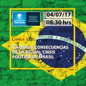"""Charla """"Causas y consecuencias de la actual crisis política de Brasil"""""""