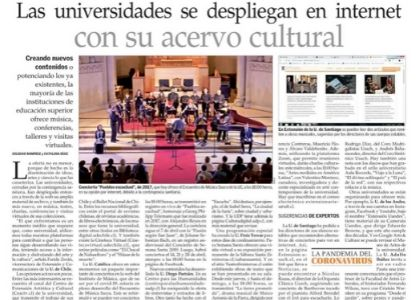 U. Finis Terrae despliega oferta cultural online