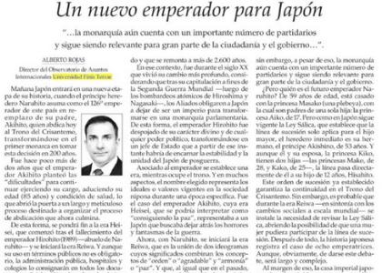 El Mercurio | Columna de Alberto Rojas