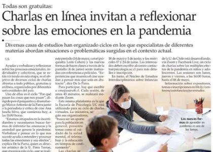 El Mercurio | Diario destaca ciclo de charlas realizadas por la U. Finis Terrae