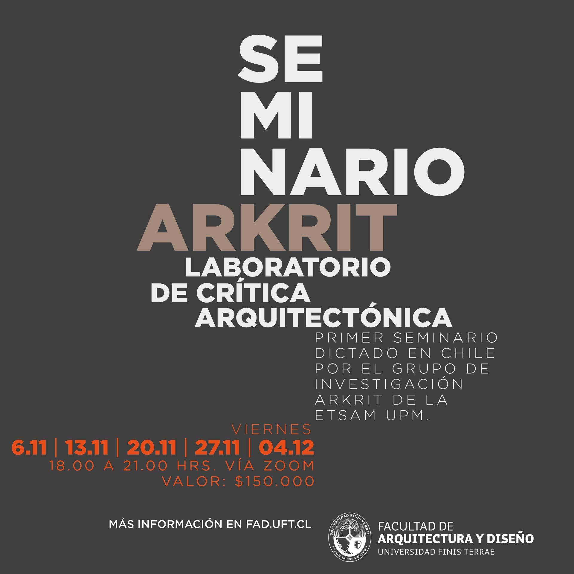 La FAD y ARKRIT se unen para seminario de crítica arquitectónica