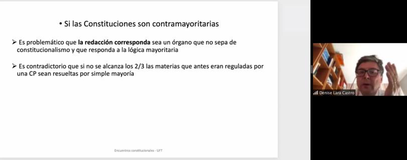 """Académicos de la Facultad de Derecho de la U. Finis Terrae analizaron diversos aspectos relacionados al proceso constituyente en ciclo de charlas """"Encuentros Constitucionales"""""""