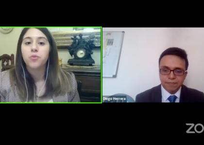 Alumnos de la Facultad de Derecho de la U. Finis Terrae, María Antonieta Díaz y Diego Herrera, expusieron en Congreso Estudiantil de Derecho Internacional de la PUCV