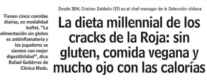 Las Últimas Noticias | Director de Nutrición y Dietética analizó la dieta de Selección chilena de Fútbol