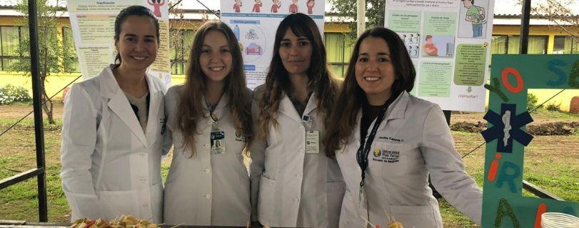 Estudiantes de Medicina participaron de la Feria de Seguridad Ciudadana de Doñihue