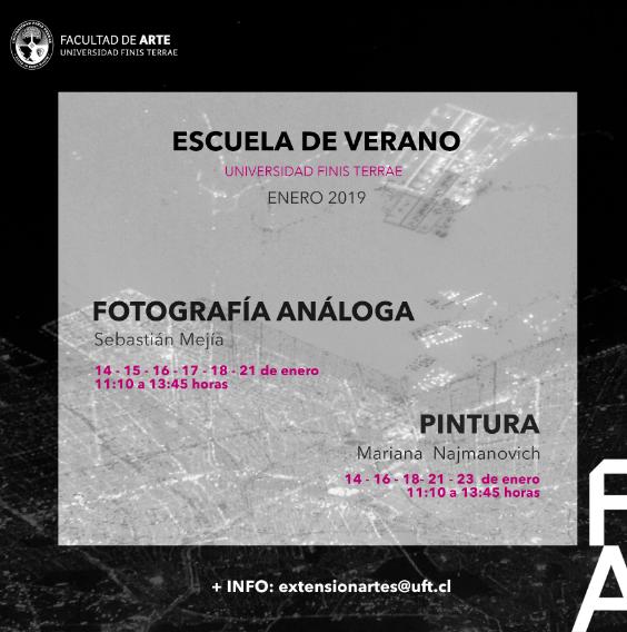 Curso de Verano Arte en Fotografía Análoga y Pintura.