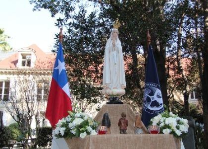 Universidad Finis Terrae fue consagrada a la Virgen María