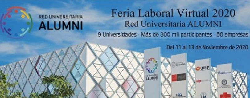 Red Alumni U. Finis Terrae participa en primera feria laboral virtual interuniversidades