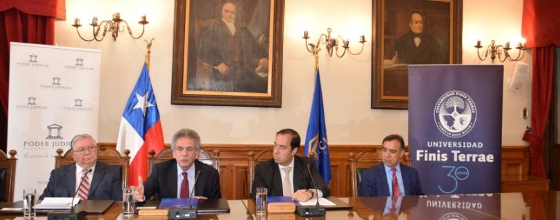 Universidad Finis Terrae y Poder Judicial firman convenio de colaboración para desarrollar innovador proyecto de radio digital