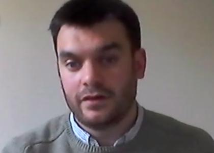 """Joaquín Reyes Barros, doctorando en Derecho por la U. de Edimburgo e investigador externo de la U. Finis Terrae, expuso un adelanto de su tesis doctoral sobre concepto de """"precio justo"""""""