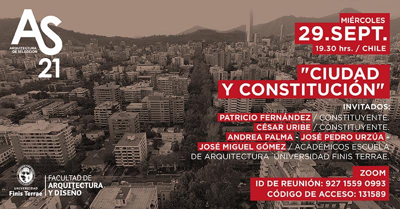 Constituyentes y arquitectos debatirán sobre ciudad y Constitución en conversatorio de Arquitectura