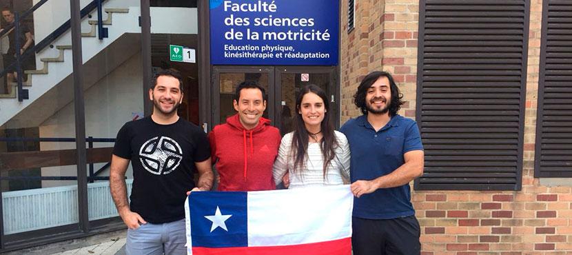 Alumnos del Magíster en Ciencias de la Salud y el Deporte realizan intercambio en la Universidad Católica de Lovaina, Bélgica.