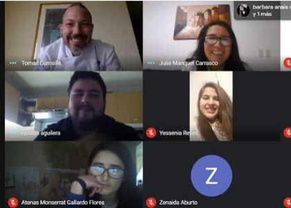Alumnos de Fundación Belén Educa participaron en charla online dictada por chefs de la carrera de Dirección y Gestión de Artes Culinarias