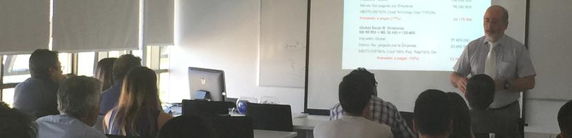 Escuela de Auditoría y Control de Gestión realizó charla sobre Reforma Tributaria