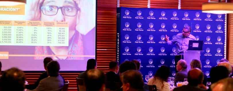 Bernardo Fontaine analizó la modernización tributaria en  Club Monetario de la U. Finis Terrae