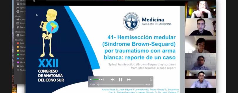 Alumnos de Medicina tuvieron destacada participación en Congreso de Anatomía del Cono Sur