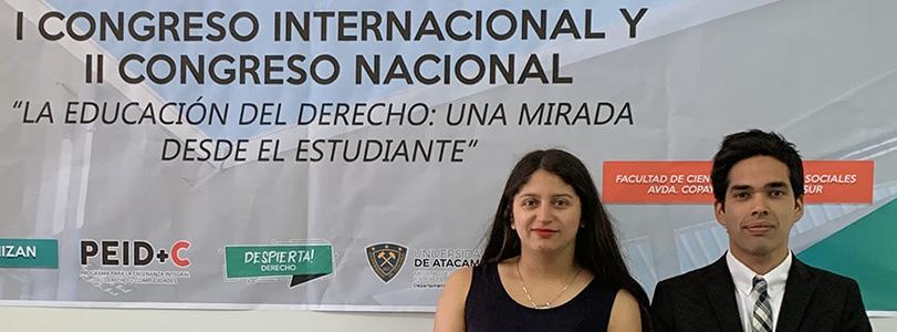 Estudiantes de la Finis Terrae exponen sobre educación del derecho en Universidad de Atacama