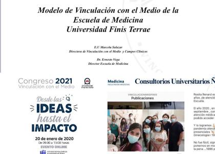 """Escuela de Medicina participó en """"Congreso Online de Vinculación con el Medio"""""""