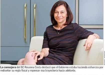 El Mercurio | Rosanna Costa, consejera del Banco Central, en reunión del Club Monetario de la U. Finis Terrae