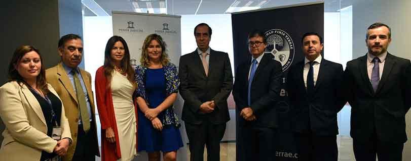 U. Finis Terrae 1° casa de estudios en firmar convenio con Centro de Medidas Cautelares para entrega de representación jurídica