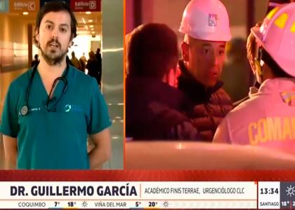 Canal 13 | Entrevista a Dr. Guillermo García por intoxicaciones por monóxido de carbono