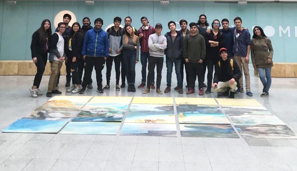 Alumnos de Arquitectura realizaron intervención en el Centro Cultural La Moneda