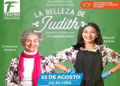 """Obra """"La belleza de Judith"""" tendrá función accesible para la comunidad sorda"""