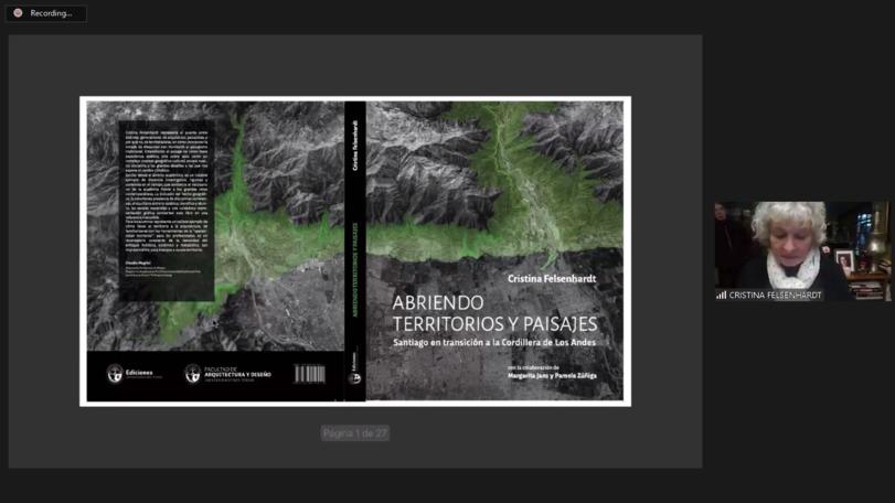 """Arquitectura presentó el libro """"Abriendo territorios y paisajes. Santiago en transición a la Cordillera de los Andes"""""""
