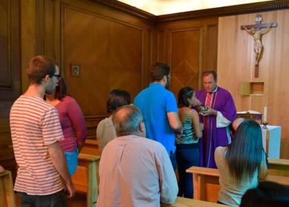 Pastoral realiza misa de bienvenida a alumnos de intercambio