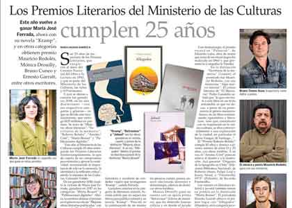 El Mercurio | Participante del Taller Literario de Pablo Simonetti ganó premio a
