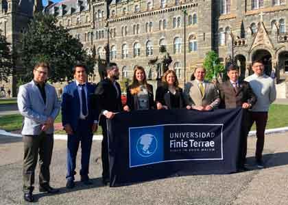 Estudiantes de la U. Finis Terrae realizaron pasantía en la Universidad de Georgetown