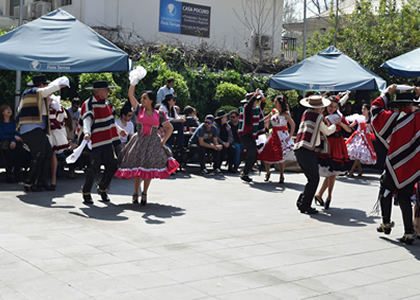 Funcionaros celebraron Fiestas Patrias en la Finis