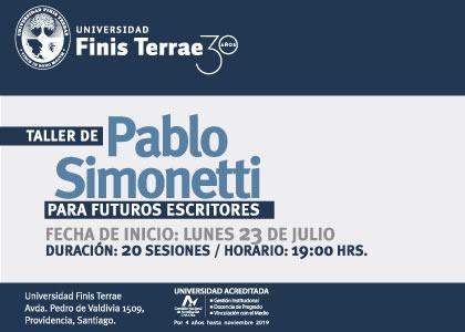 Universidad Finis Terrae realiza 8va versión del taller de Pablo Simonetti para futuros escritores