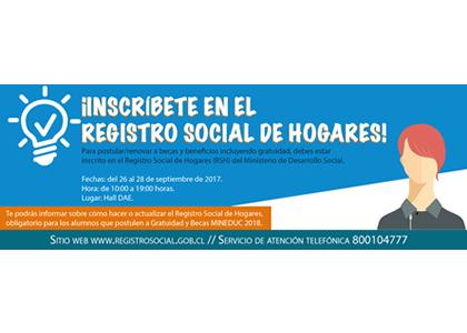 Inscríbete en el Registro Social de Hogares para postular y renovar becas, beneficios y gratuidad