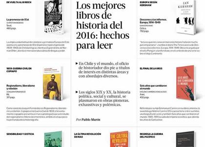 Diario La Tercera destacó libros de docentes de Historia