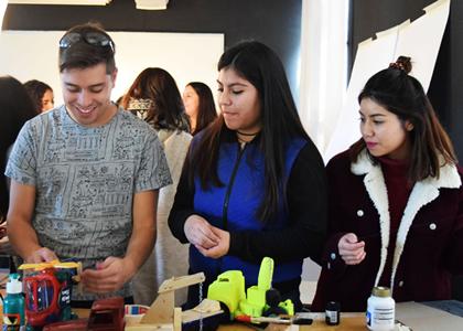 Alumnos de primer año participaron en el 4to Workshop Nacional de Diseño.