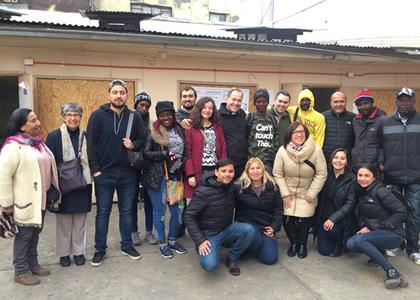 Funcionarios vivieron una jornada de solidaridad en la Fundación FRÈ