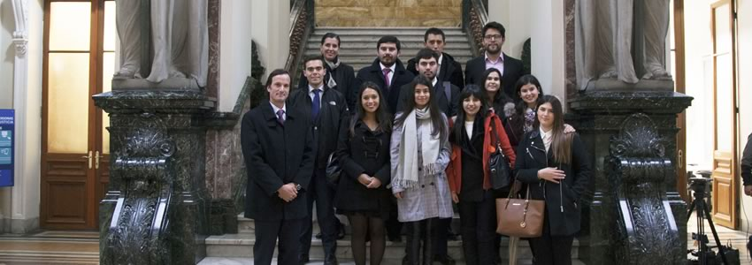 """Estudiantes participan de oyentes en alegato en la Suprema: """"Fue una visita muy gratificante y motivadora"""""""