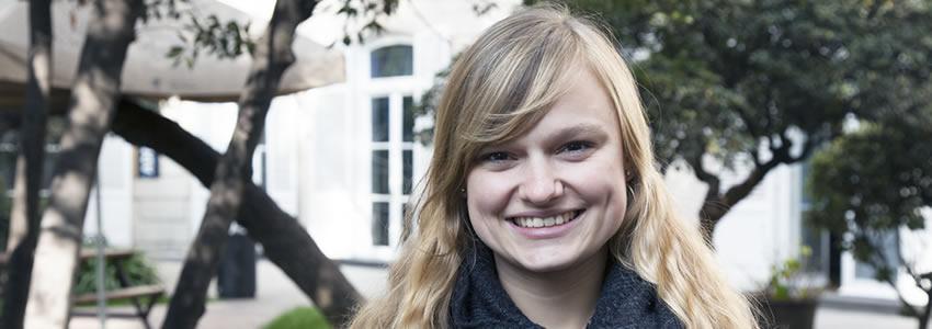 """Estudiante alemana de intercambio: """"Mi meta es trabajar en la Corte Internacional de La Haya"""""""