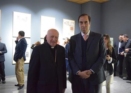 Rector Cristian Nazer y Cardenal Ricardo Ezzati inauguran la muestra ¿Quién es el hombre de la Sábana Santa?