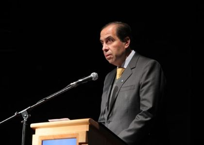 Rector destacó la gestión de personas durante la Cuenta Pública Institucional