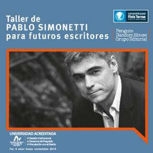 Taller de Pablo Simonetti para futuros escritores
