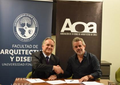 Facultad de Arquitectura y Diseño de la U.Finis Terrae firma convenio con la Asociación de Oficinas de Arquitectos