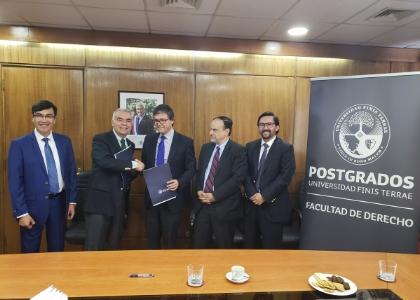 Postgrados de Derecho U. Finis Terrae  firmó convenio con Subsecretaría de Agricultura y AFUSA
