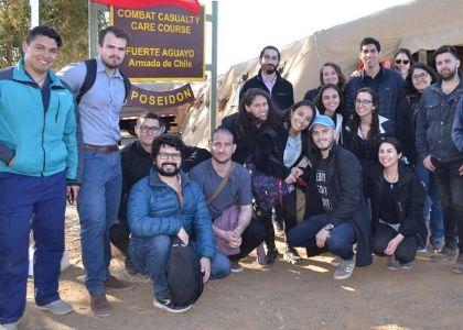 Estudiantes de la Escuela de Medicina participaron en curso dictado por Dirección de Sanidad de la Armada de Chile