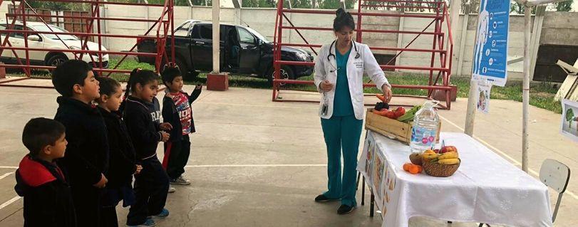 Internos de la Escuela de Medicina realizaron talleres de ejercicios y hábitos de vida saludable en la provincia de Maipo